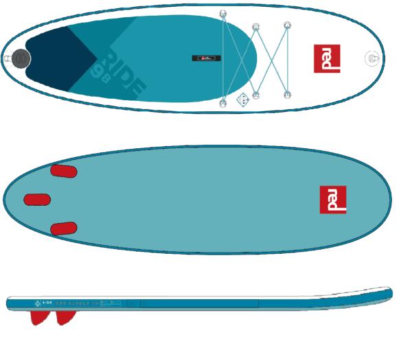 """Надувная доска Red Paddle 9'8"""" RIDE RSS 2018"""