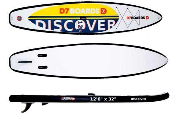 "Надувная доска D7 Boards Discover 12'6"""